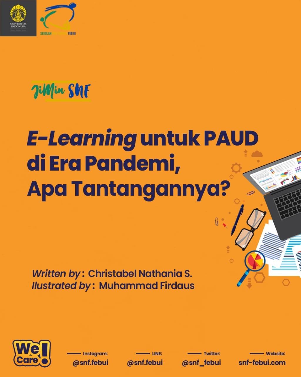 JIMIN SNF — E-Learning Untuk PAUD di Era Pandemi, Apa Tantangannya?